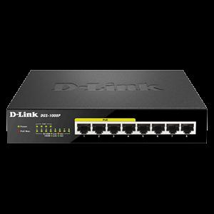 سوئیچ شبکه مدل DGS-1008MP دی-لینک